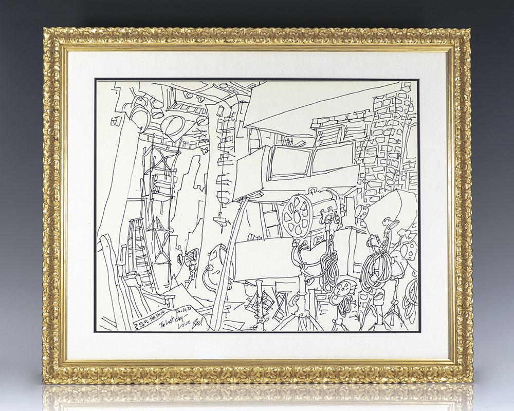 Shel Silverstein Original Signed Drawing.