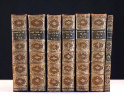 The Works of Shakespear (Shakespeare) In Six Volumes. Collated and Corrected by the former Editions, By Mr. Pope. [The Seventh Volume The Whole Revis'd and Corrected, with a Preface, by Dr. Sewell.]