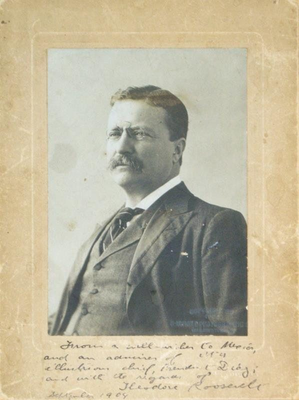 Theodore Roosevelt Signed Portrait.