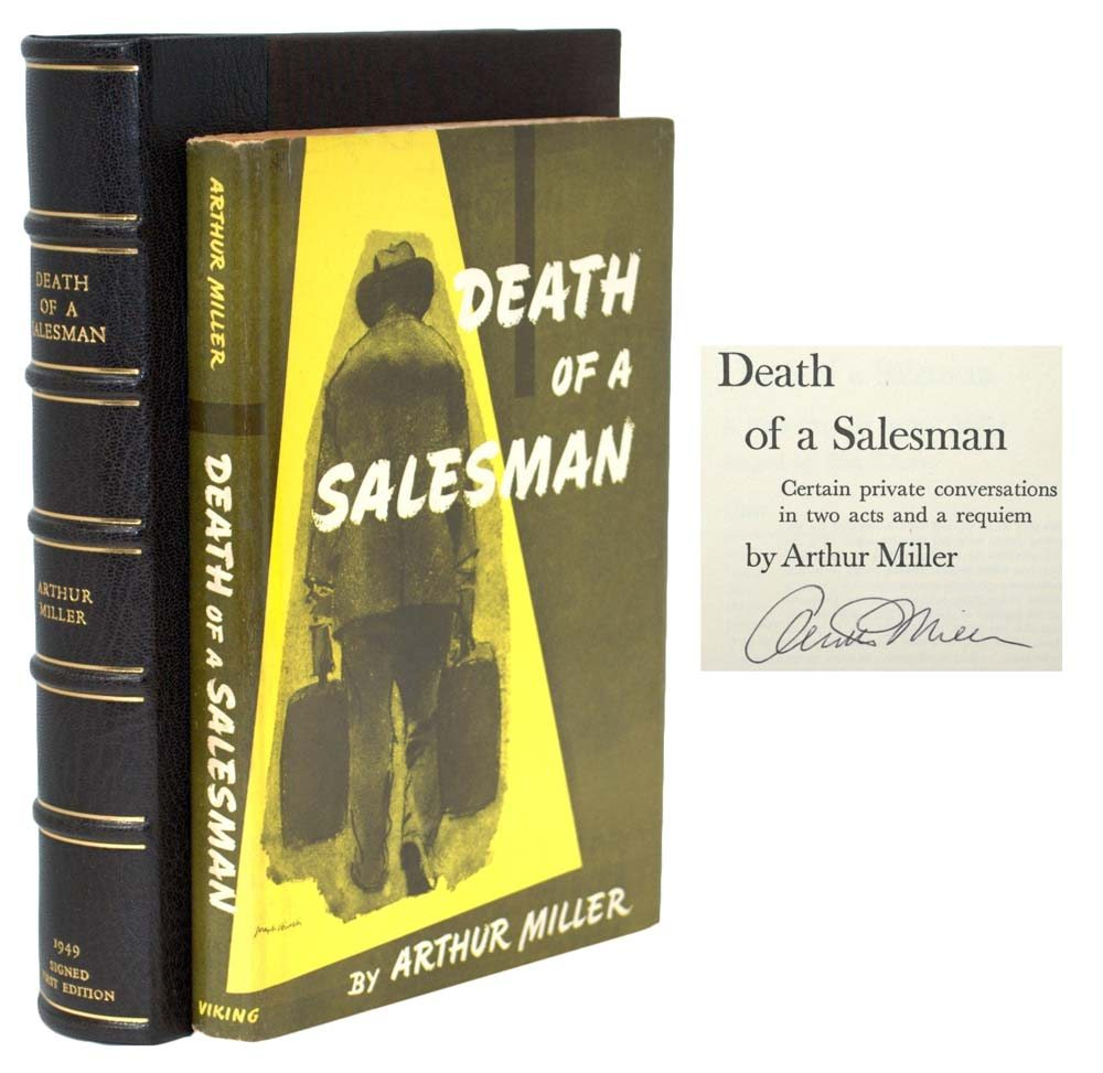 death salesman arthur miller essays Death of a salesman is a 1949 play written by american miller, arthur death of a salesman contains the full text and various critical essays criticism.
