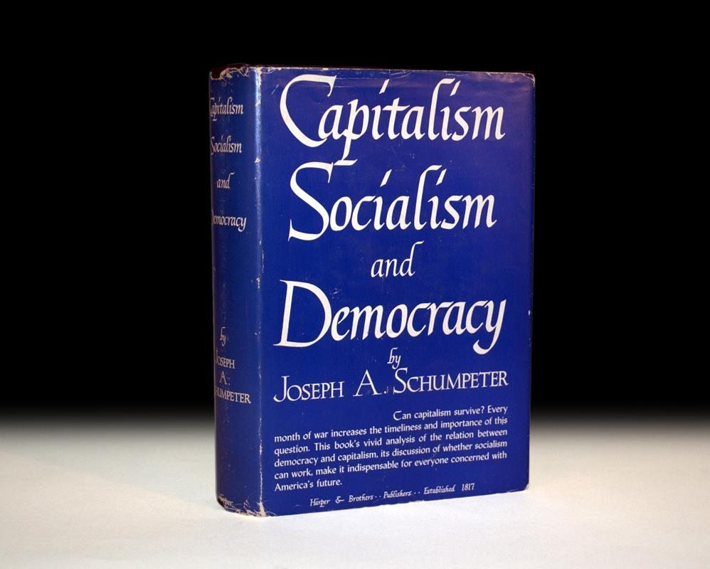 an analysis of joseph schumpeters description of capitalism At the time of his death in 1950, joseph schumpeter was working on his monumental history of economic analysis unprecedented in scope, the book was to provide a.