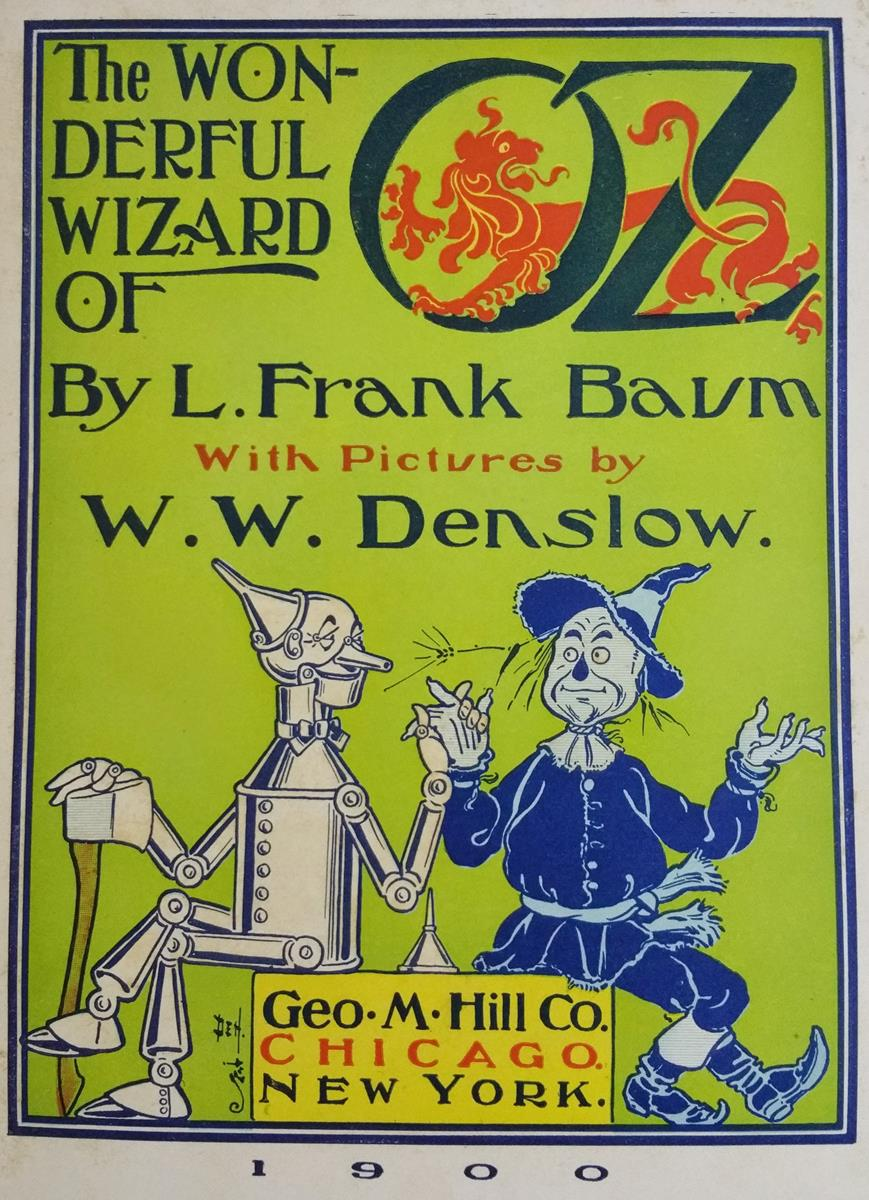 "The wonderful wizard of oz (first edition, second state, binding ""c"")."