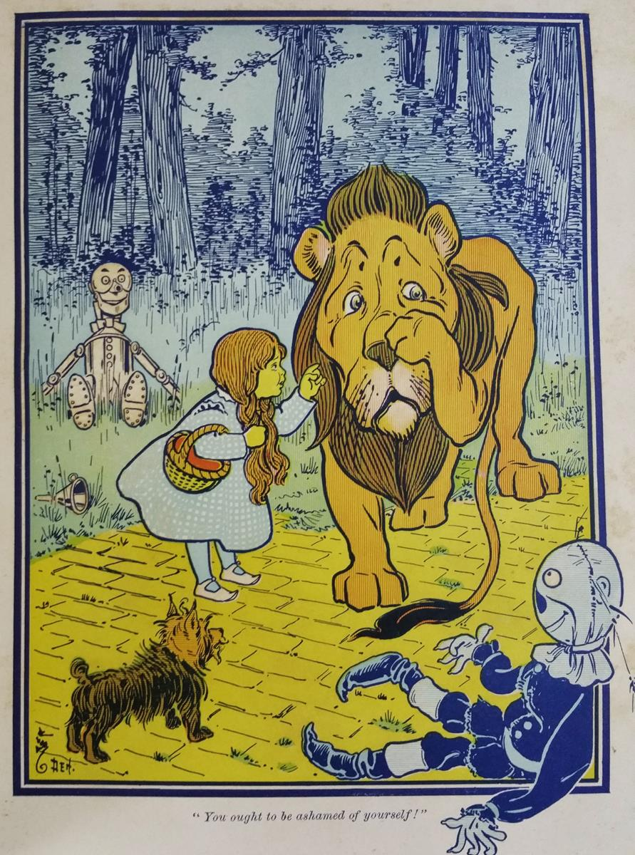 The wonderful wizard of oz l. Frank baum first edition rare.