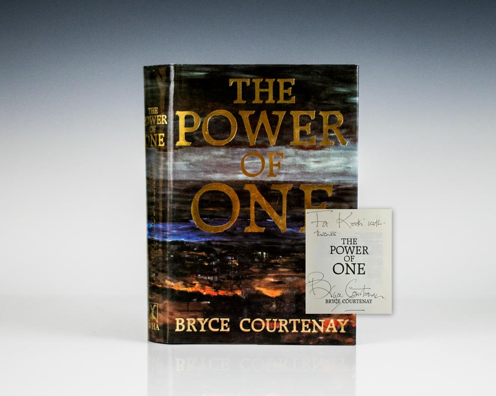essay questions on bryce courtenays novel the power of one The power of one the power of one - representation of the different groups the power of one is a cinematic masterpiece which was based on the inspiring novel by bryce courtenay set in a world torn apart from racism where man subjugates his fellow country man and liberty remains evasive.