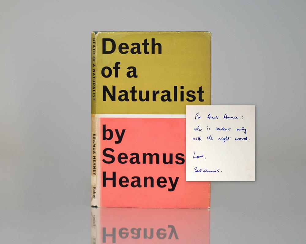 seamus heaney s death of a naturalist Turkeys observed, taken up at the first meeting, is the first pre-group poem published in a forum with wide circulation and afterward in death of a naturalist.