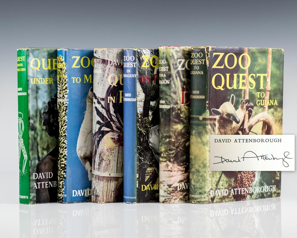 Complete Set: Zoo Quest To Guiana, Zoo Quest For A Dragon, Zoo Quest in Paraguay, Quest in Paradise, Zoo Quest To Madagascar, Quest Under Capricorn.