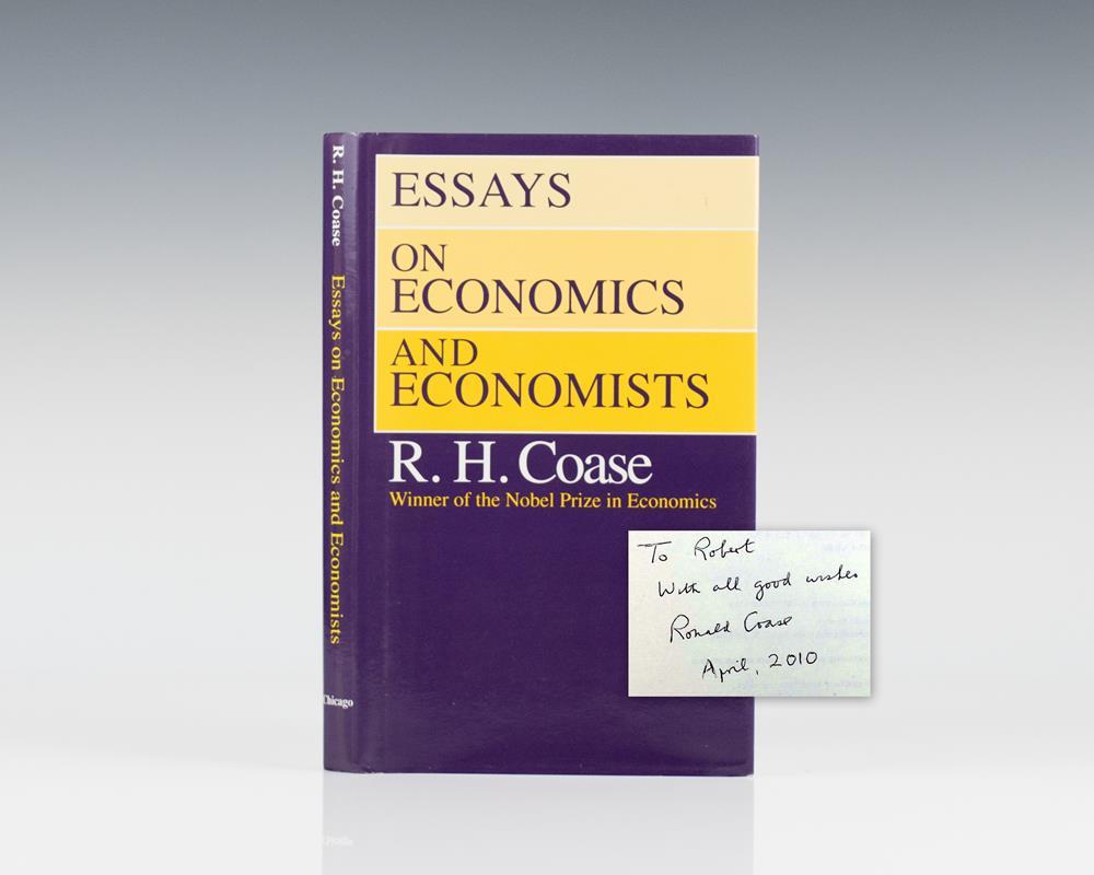 essays economics economists coase Essays on economics and economists has 40 ratings and 3 reviews max said: coase may not have been as famous as adam smith, paul krugman, ben bernanke, m.