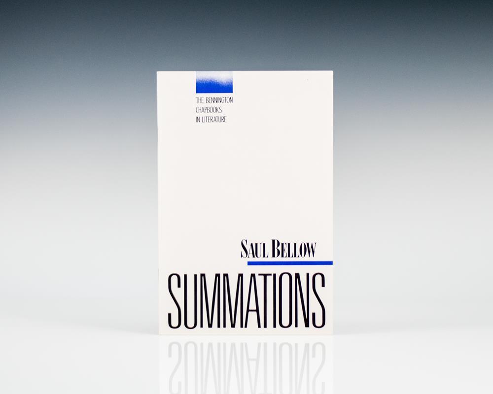 Summations: The Bennington Chapbooks in Literature.