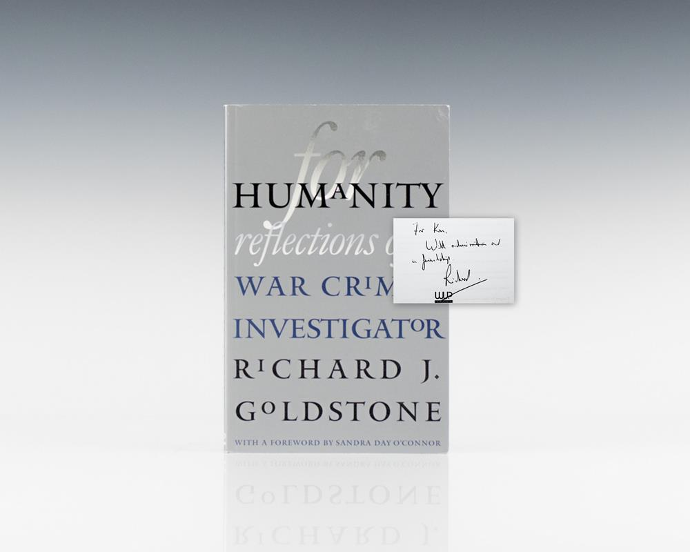 For Humanity: Reflections of a War Crimes Investigator.