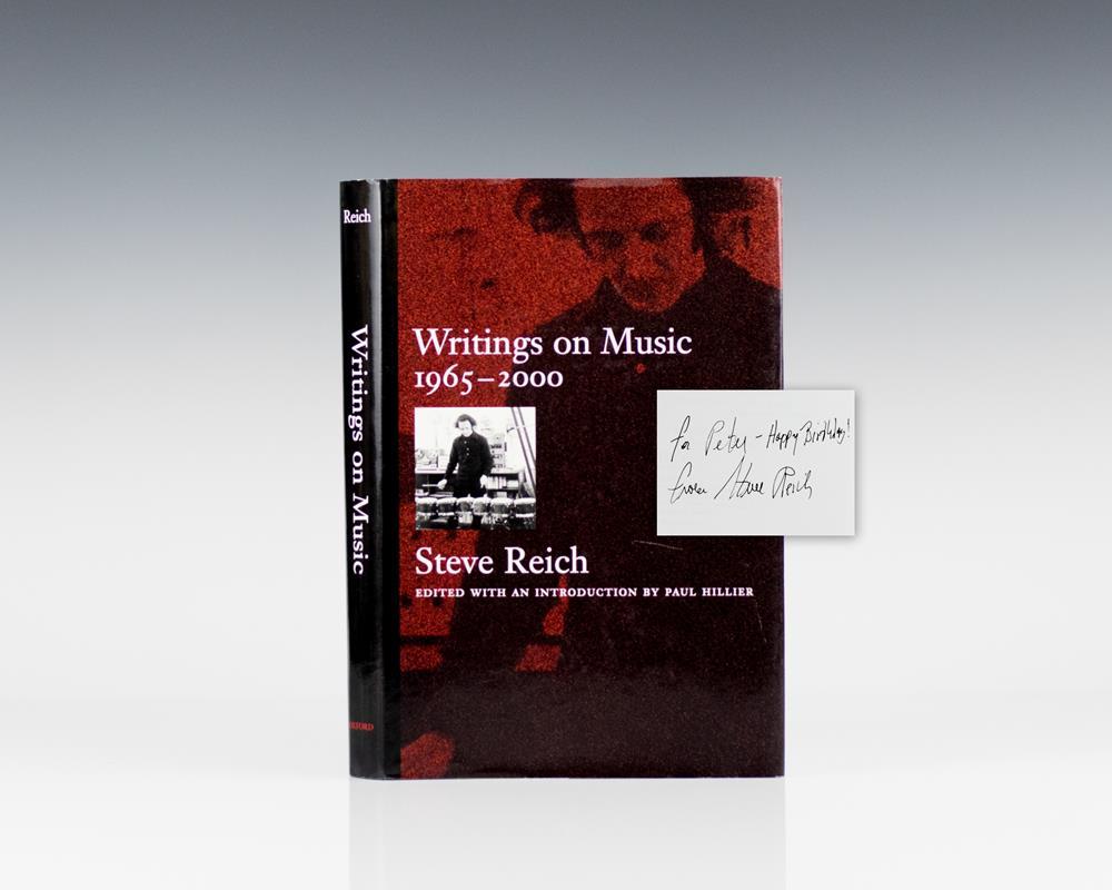Writings on Music, 1965-2000.