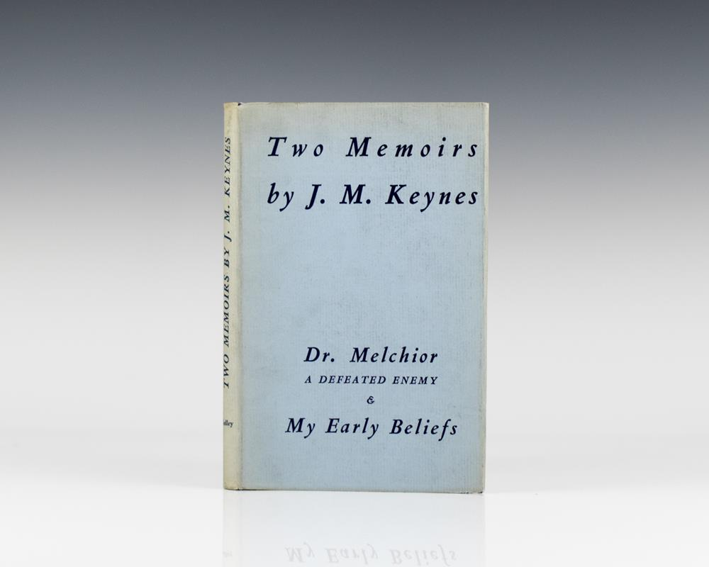 Two Memoirs. Dr. Melchior: A Defeated Enemy and My Early Beliefs.