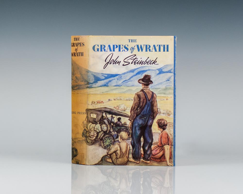 the grapes of wrath by john steinbeck John steinbeck's the grapes of wrath (1939), the most illustrious protest novel of the 1930s, was an epic tribute to the okies, those throwbacks to america's 19th-century pioneers, now run off their farms by the banks, the dust bowl, and the mechanization of modern agriculture, clattering in.
