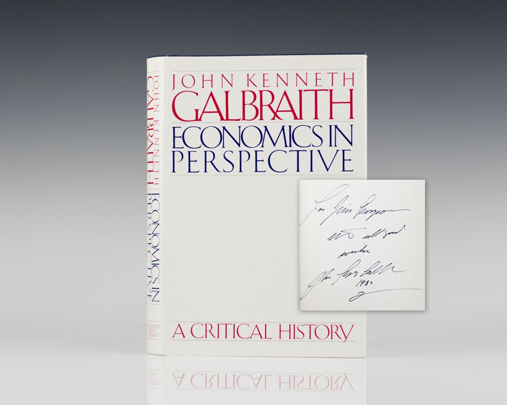 Economics in Perspective: A Critical History.