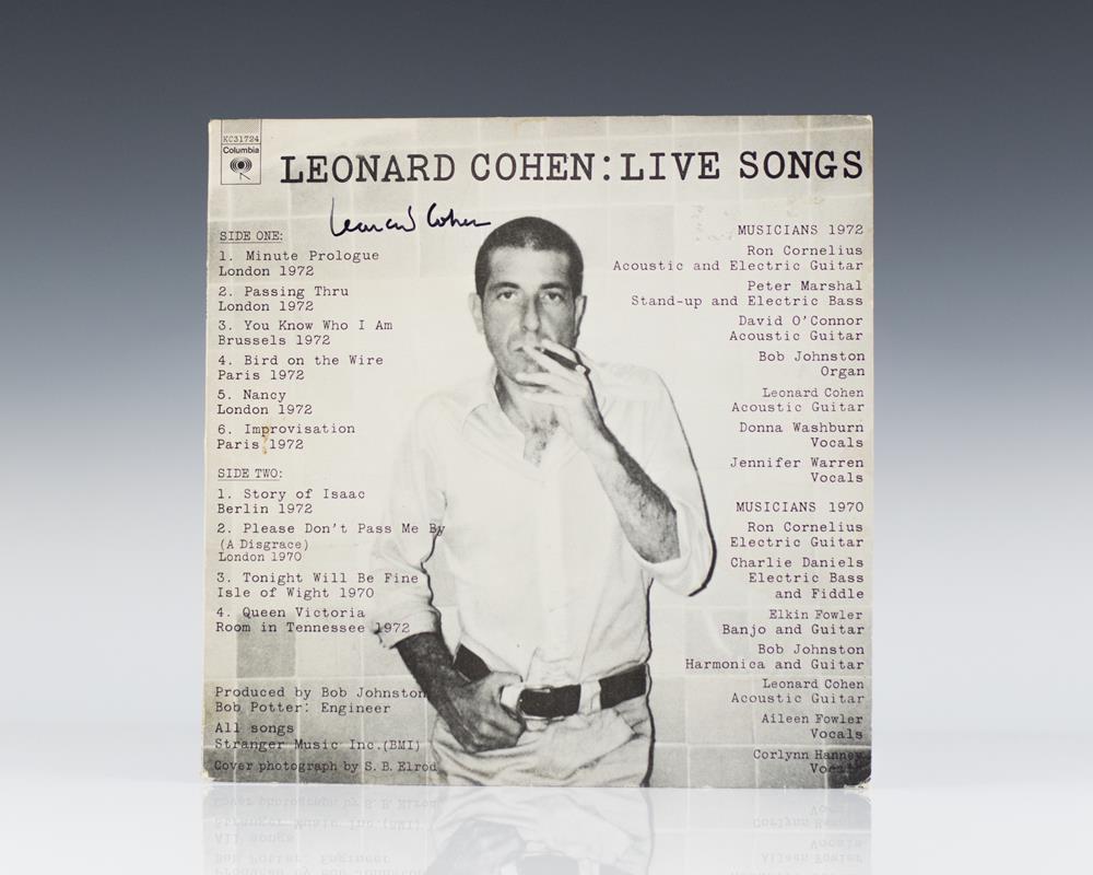 Leonard Cohen: Live Songs.