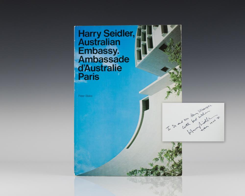Harry Seidler: Australian Embassy; Ambassade d'Australie Paris.