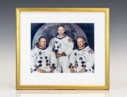 Signed Photograph of Apollo 11 Crew: Neil Armstrong, Michael Collins and Buzz Aldrin.