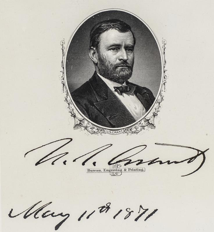 Essay On High School Ulysses S Grant Signed Engraving Essay On Terrorism In English also Business Essay Example Ulysses S Grant Signed Engraving General Grant Signed The Yellow Wallpaper Character Analysis Essay