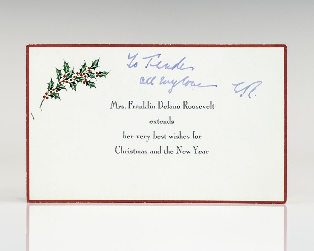 Eleanor Roosevelt Signed Christmas Card.