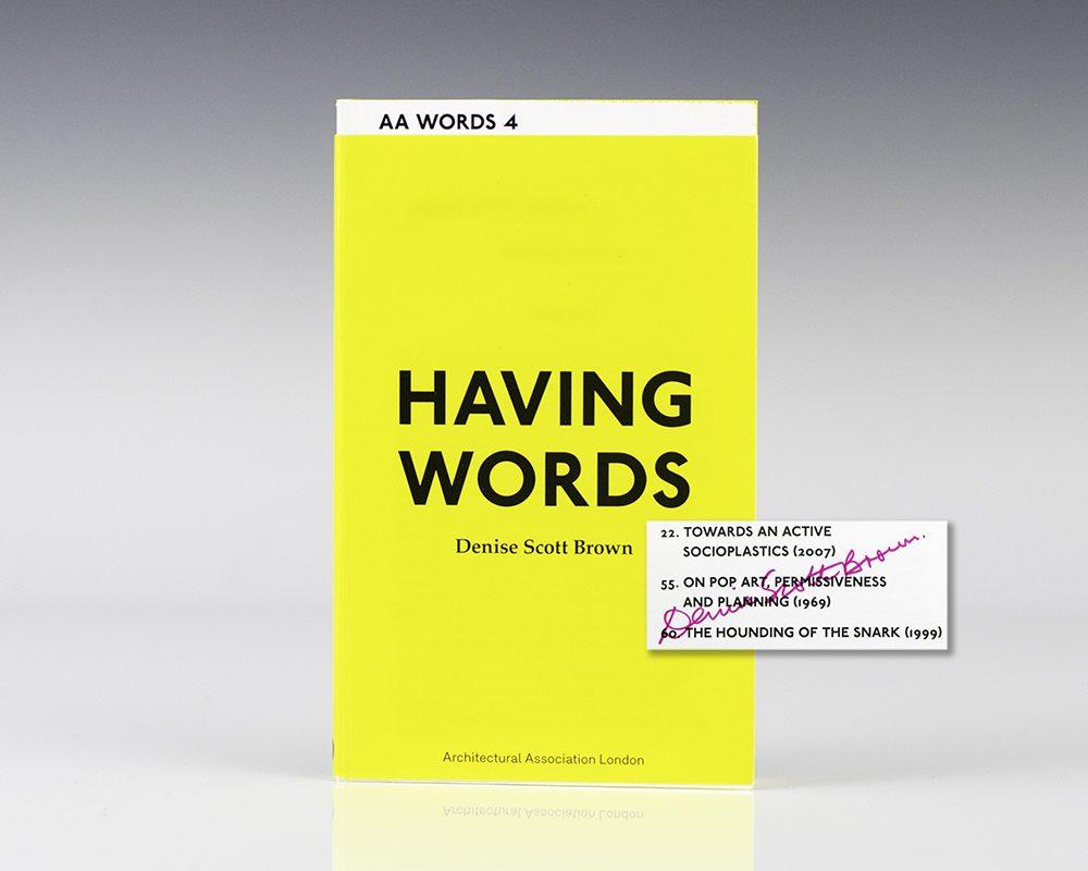 Having Words.