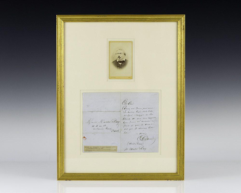 Alexander Dumas Autograph Letter Signed.