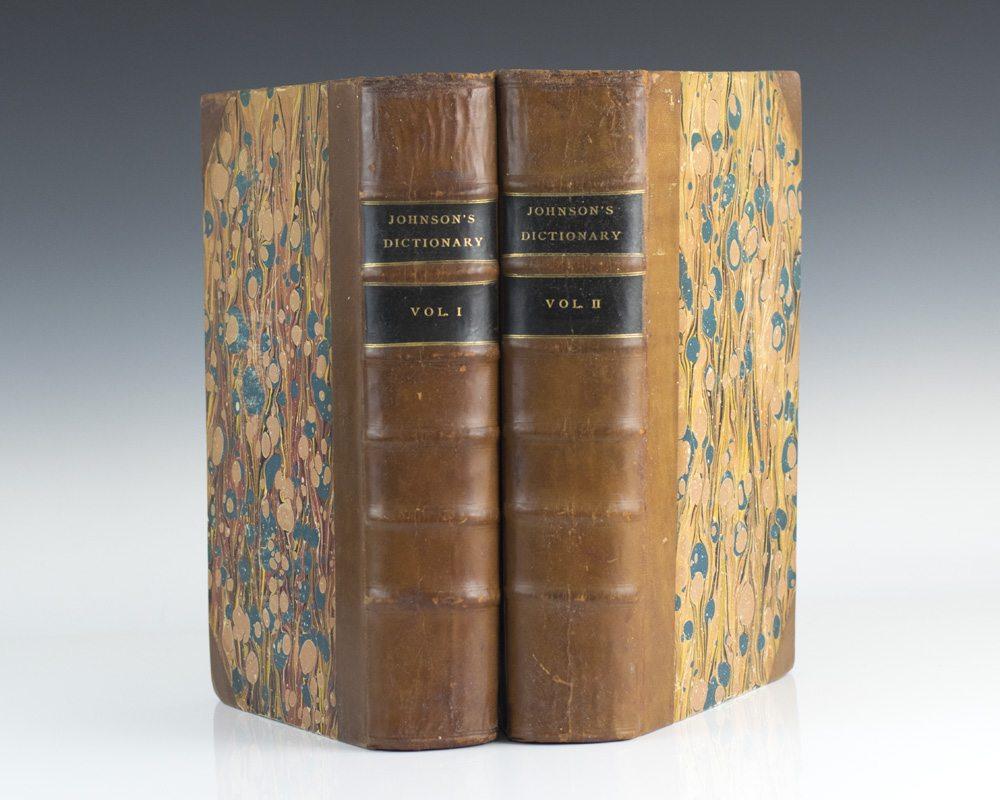 English In Italian: Samuel Johnson's English Dictionary First Edition Rare Book