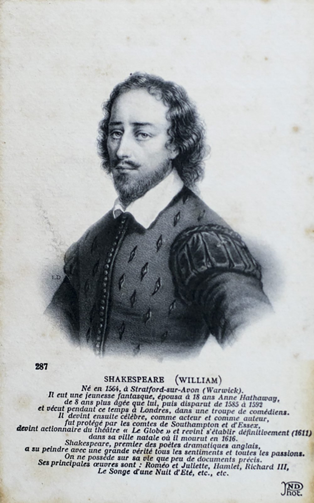 brief biography of william shakespeare According to tradition, the great english dramatist and poet william shakespeare is born in stratford-on-avon on april 23, 1564 it is impossible to be certain the exact day on which he was born.