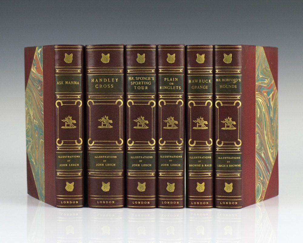 The Works of . . . : Ask Mamma; Handley Cross; Mr. Sponge's Sporting Tour; Plain or Ringlets; Hawbuck Grange; Mr. Romford's Hounds.