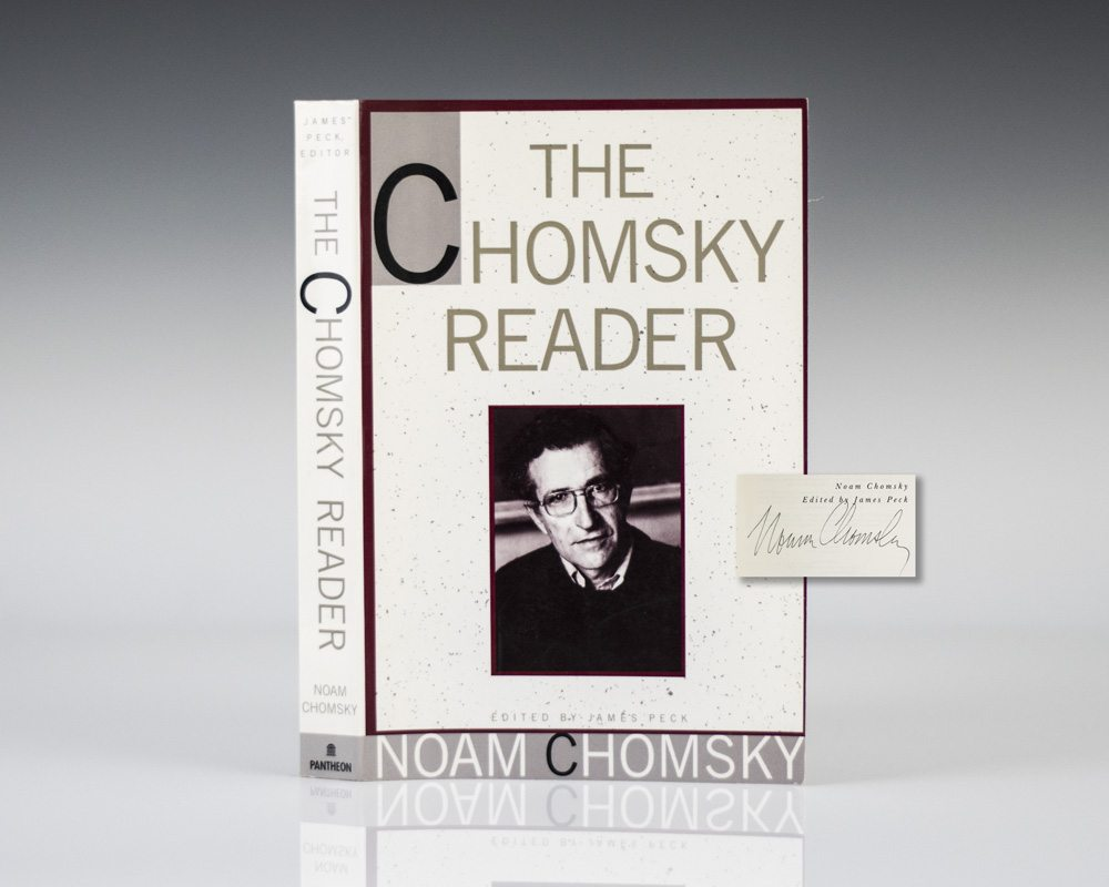 chomsky reader first edition signed rare book the chomsky reader