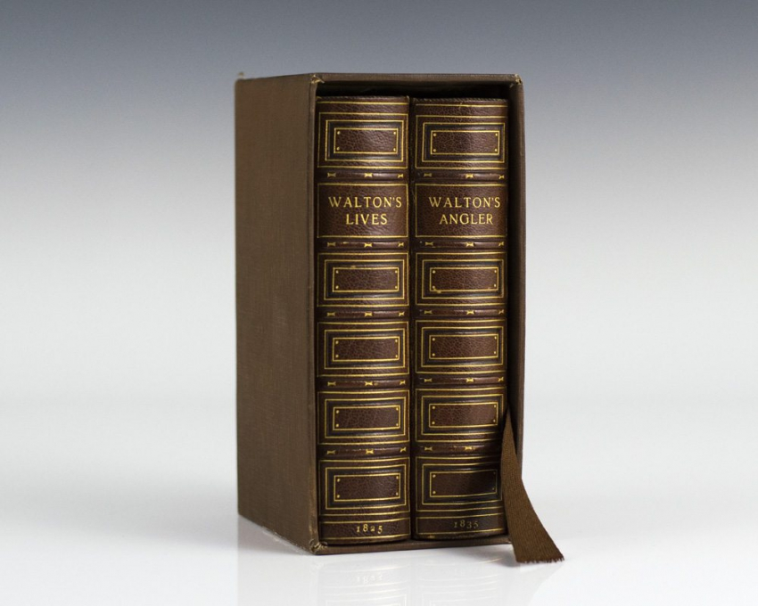 The Compleat  Angler and The Lives of Dr. John Donne, Sir Henry Wotton, Mr. Richard Hooker, Mr. George Herbert, and Dr. Robert Sanderson: Extensively Embellished With Engravings on Copper and Wood.