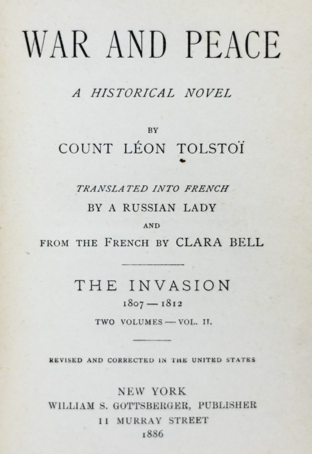 a literary analysis of the book war and peace by leo tolstoy Leo tolstoy (author) literary analysis and criticism novels literature why in  the novel 'war and peace' does the writer leo tolstoy repeats the same ideas.