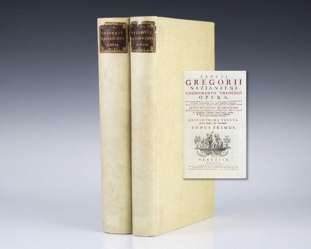 Sancti Gregorii Nazianzeni, Cognomento Theologi, Opera.