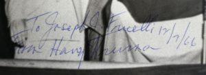 Harry Truman Signed Photograph.