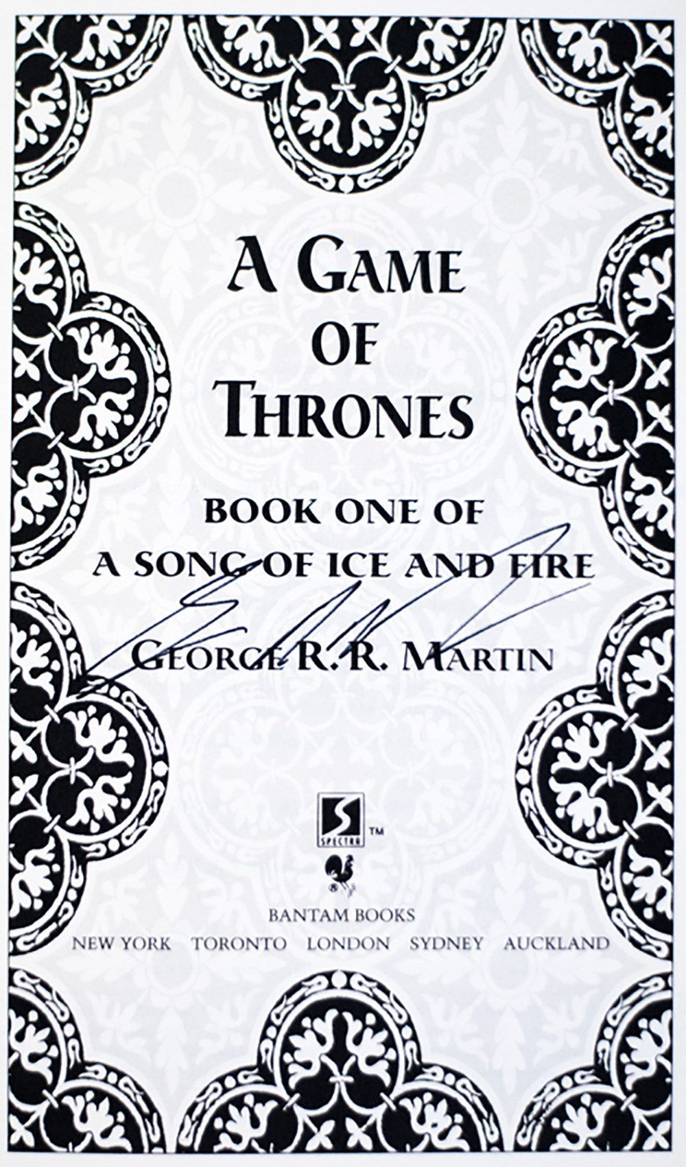 Game of Thrones; A Clash of Kings; A Storm of Swords; A Feast for Crows; A Dance with Dragons.