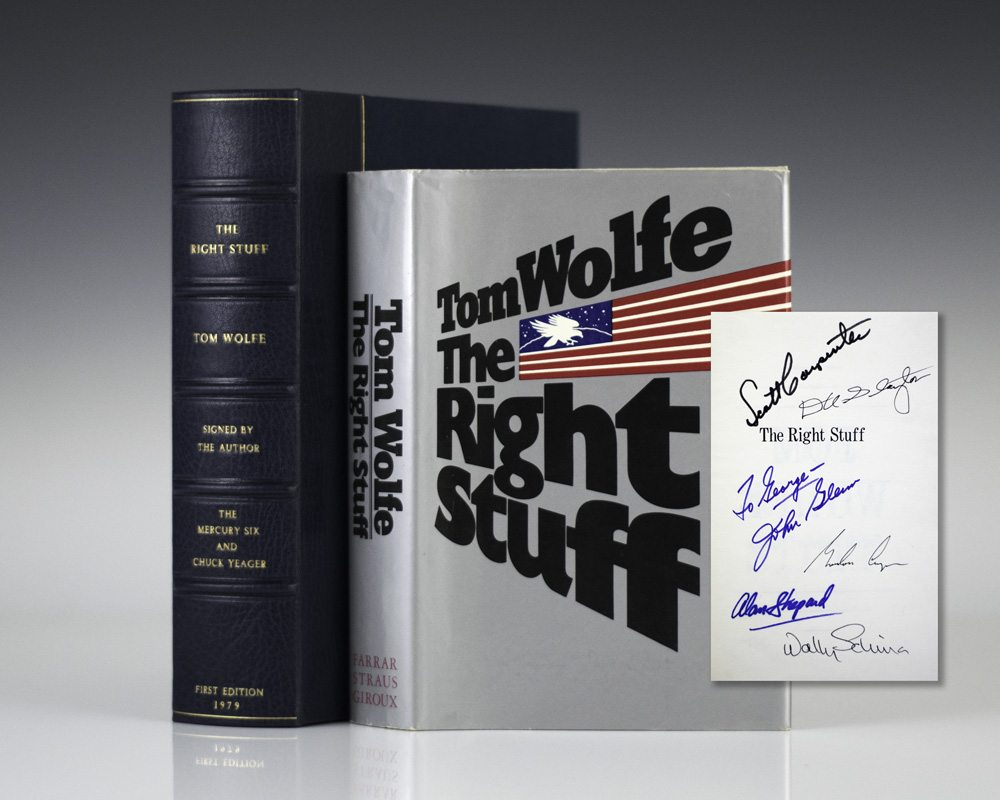 essay on the right stuff by tom wolfe But most readers outside the slick urban wolfe orbit will find credibility fatally undermined by the self-indulgent digressions, the stylistic excesses, and the broadly satiric, anti-all-american stance and, though the right stuff has enough energy, sass, and dirt to attract an audience, it mostly suggests that until wolfe can put his subject .