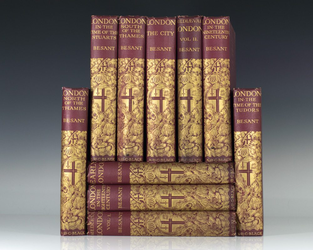 The Survey of London. Complete in 10 volumes: Mediaeval London; Historical & Social; Ecclesiastical; London in the Time of the Tudors; London in the Time of the Stuarts; London in the Eighteenth Century; London in the Nineteenth Century.