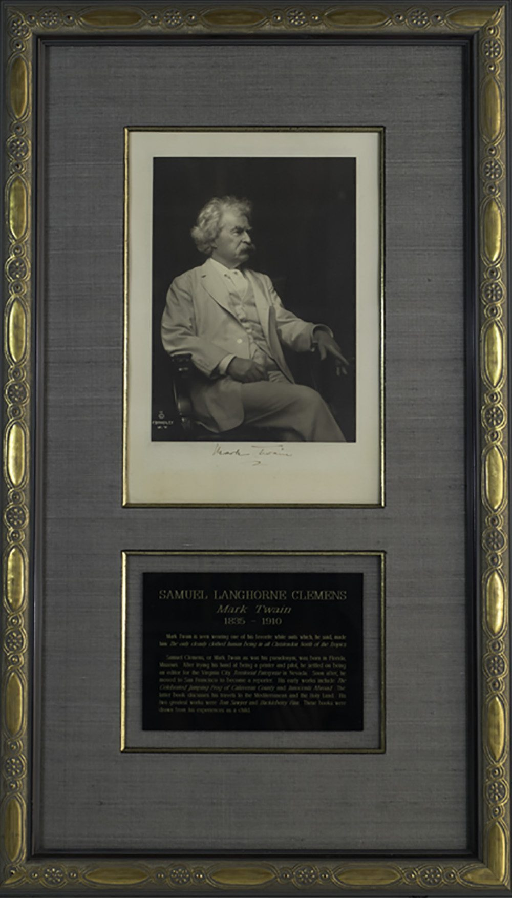 Mark Twain Signed Photograph.