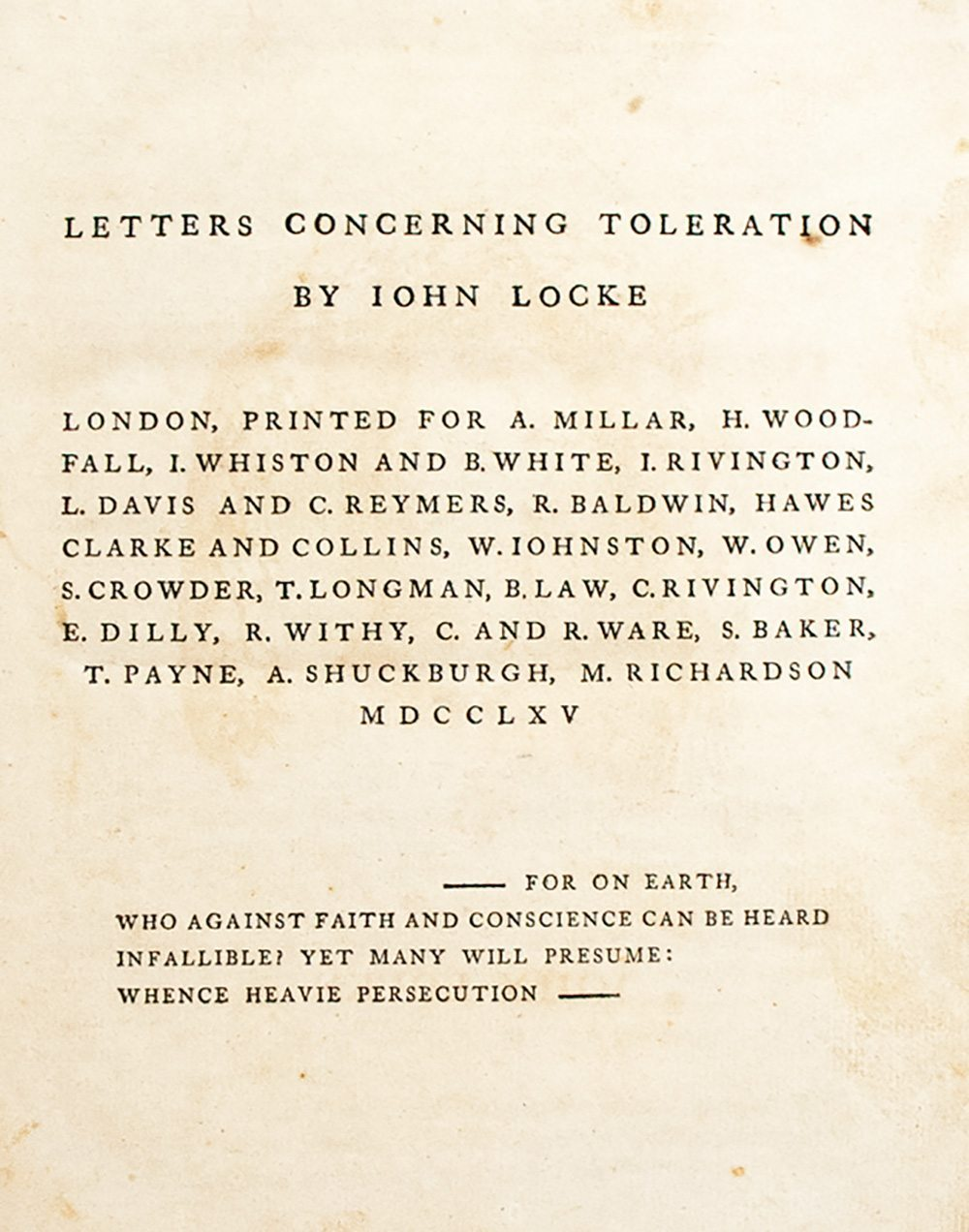 john locke s letters concerning toleration first edition 21061 middot 21061 7 middot 21061 4 middot 21061 5