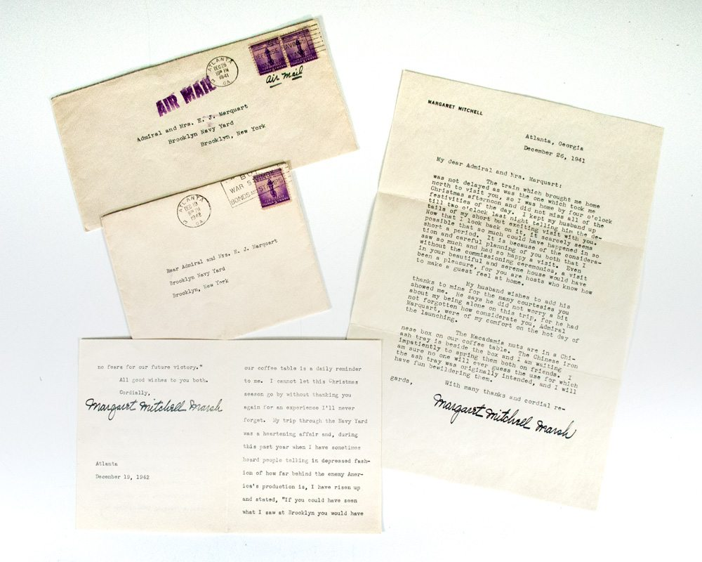 Margaret Mitchell Signed Letters.