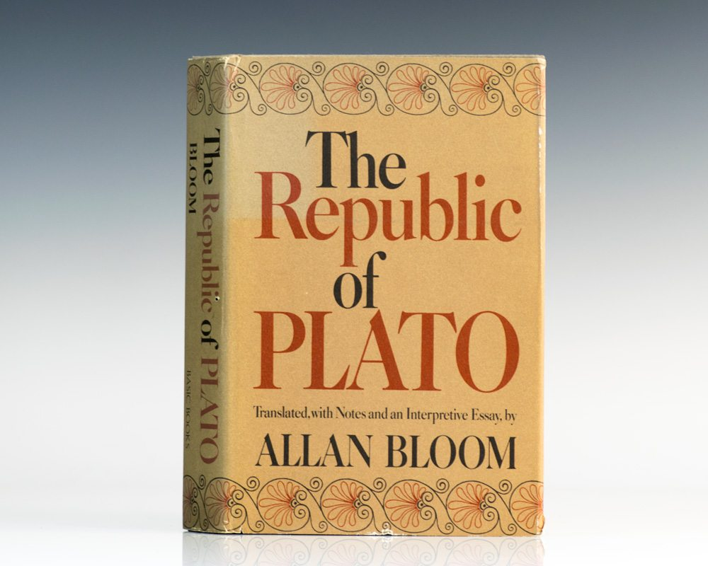 the republic of plato allan bloom first edition signed the republic of plato