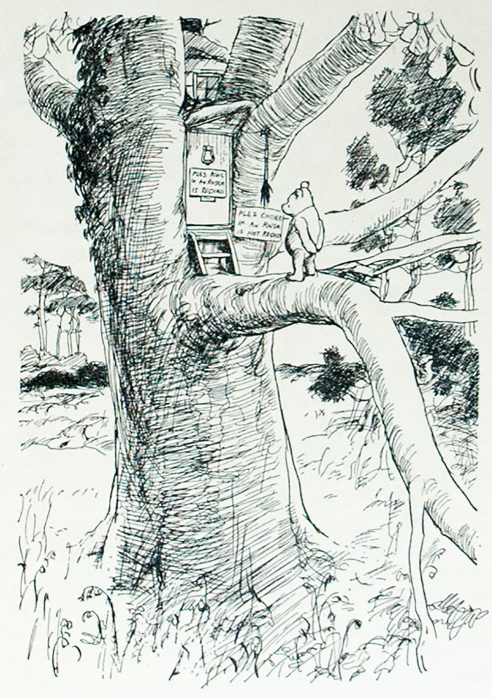 Winnie The Pooh With Decorations By Ernest H Shepard