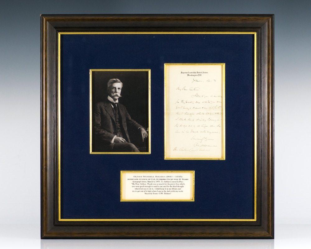 Oliver Wendell Holmes Autograph Letter Signed.