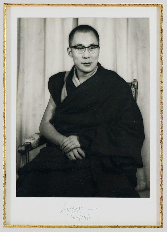 The Dalai Lama Signed Photograph.