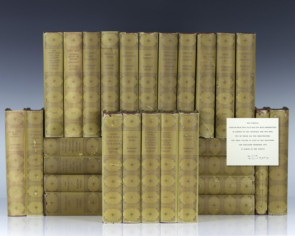 Rudyard Kipling: The Complete Works in Prose and Verse [Signed Limited Edition].