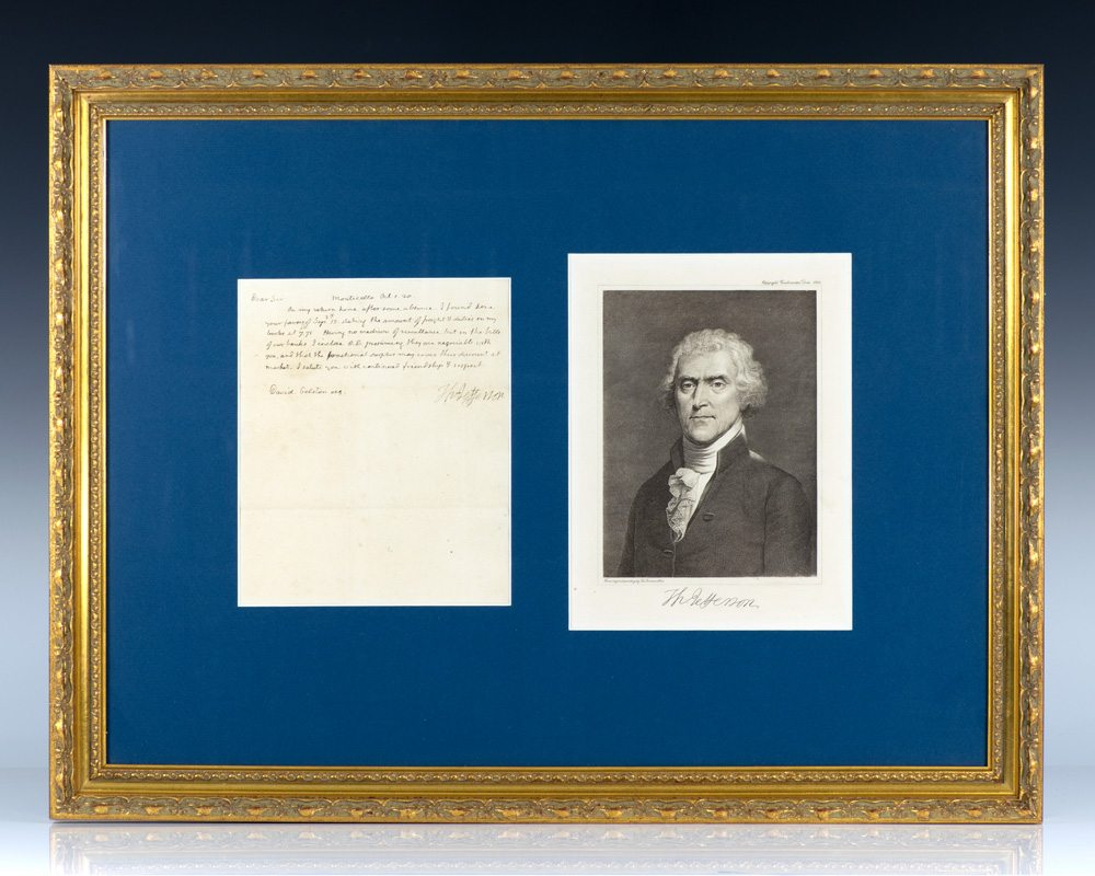 Thomas Jefferson Autograph Letter Signed Regarding His Library.
