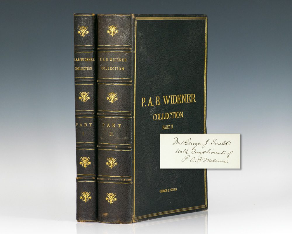 Catalogue of Paintings Forming the Private Collection of P. A. B. Widener. Asbourne – Near Philadelphia. Part I: Modern Paintings; Part II: Early English and Ancient Paintings.