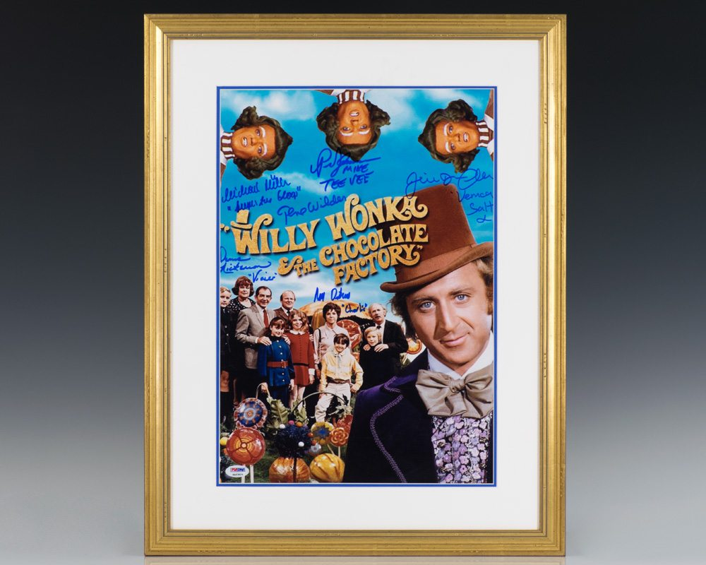 Willy Wonka and the Chocolate Factory Signed Photograph.