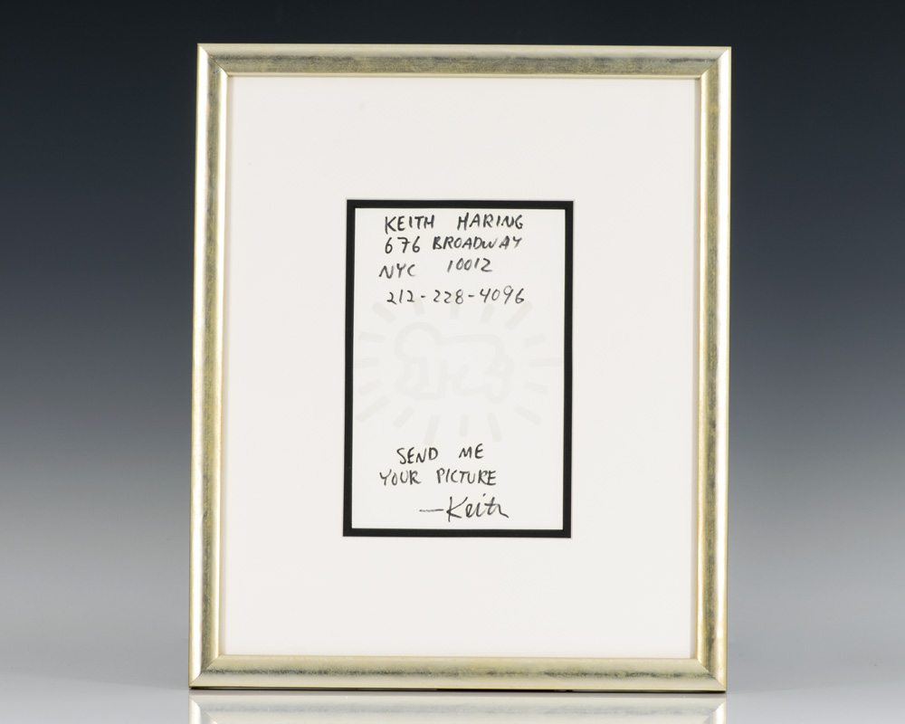 Autograph Note Signed By Keith Haring.