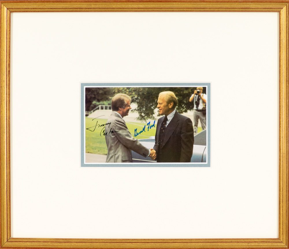 Gerald Ford and Jimmy Carter Signed Photograph.