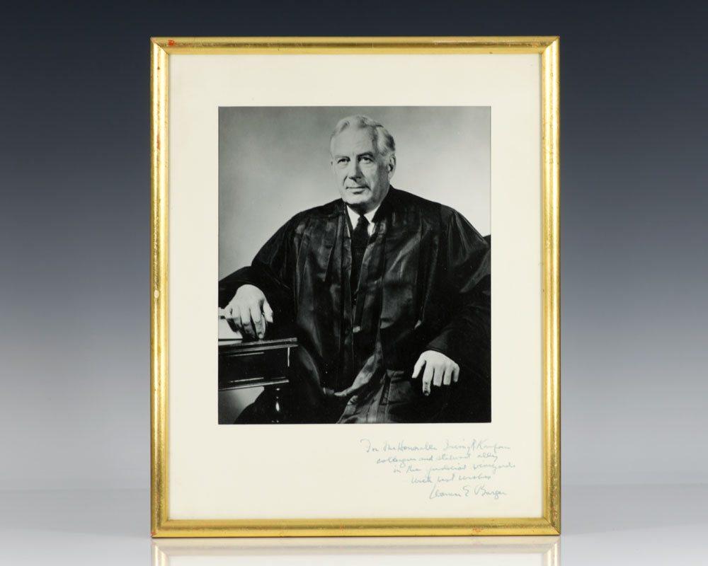 Warren E. Burger Signed Photograph.