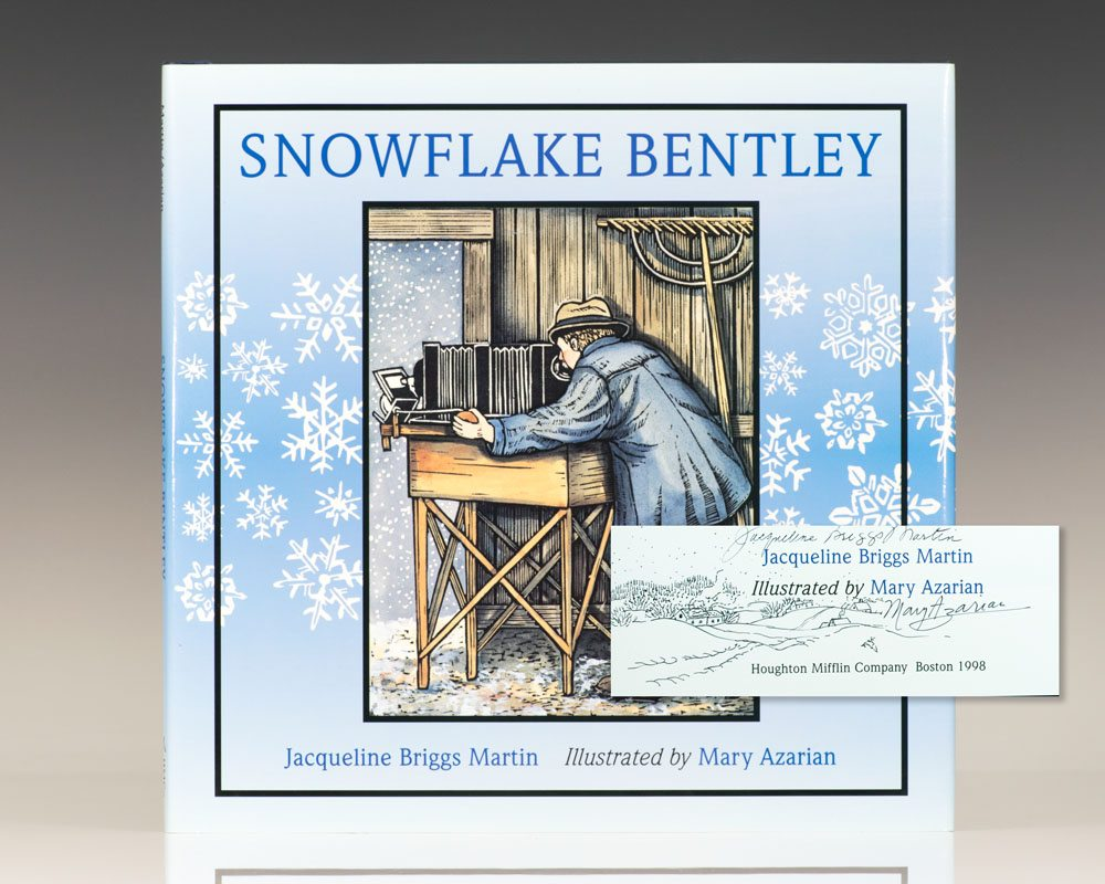 snowflake bentley first edition signed jacqueline briggs martin